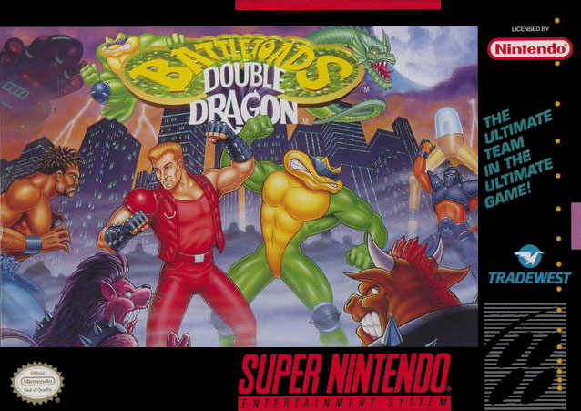 Drachenfaust Battletoads Double Dragon Snes Boxart